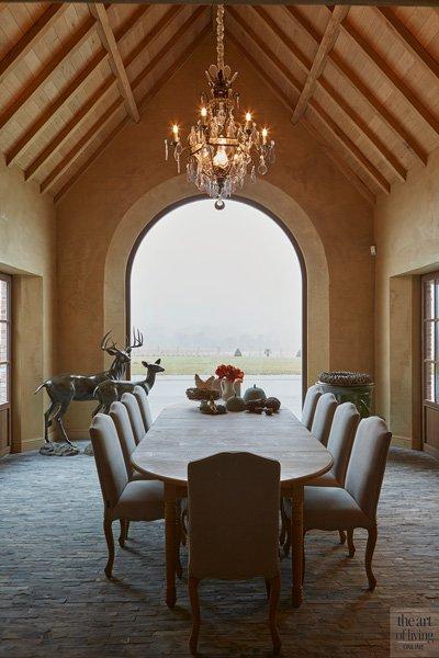 Eettafel met indrukwekkend uitzicht op het landschap
