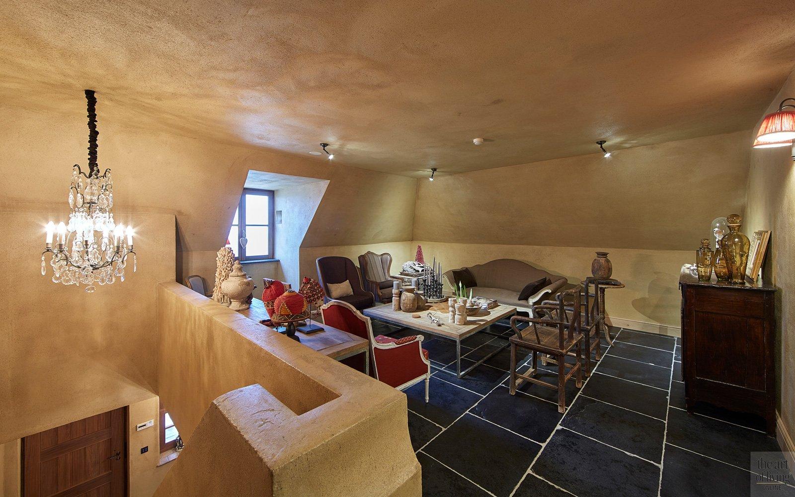 Franse terracotta vloer, zitruimte, gezelligheid en exclusiviteit