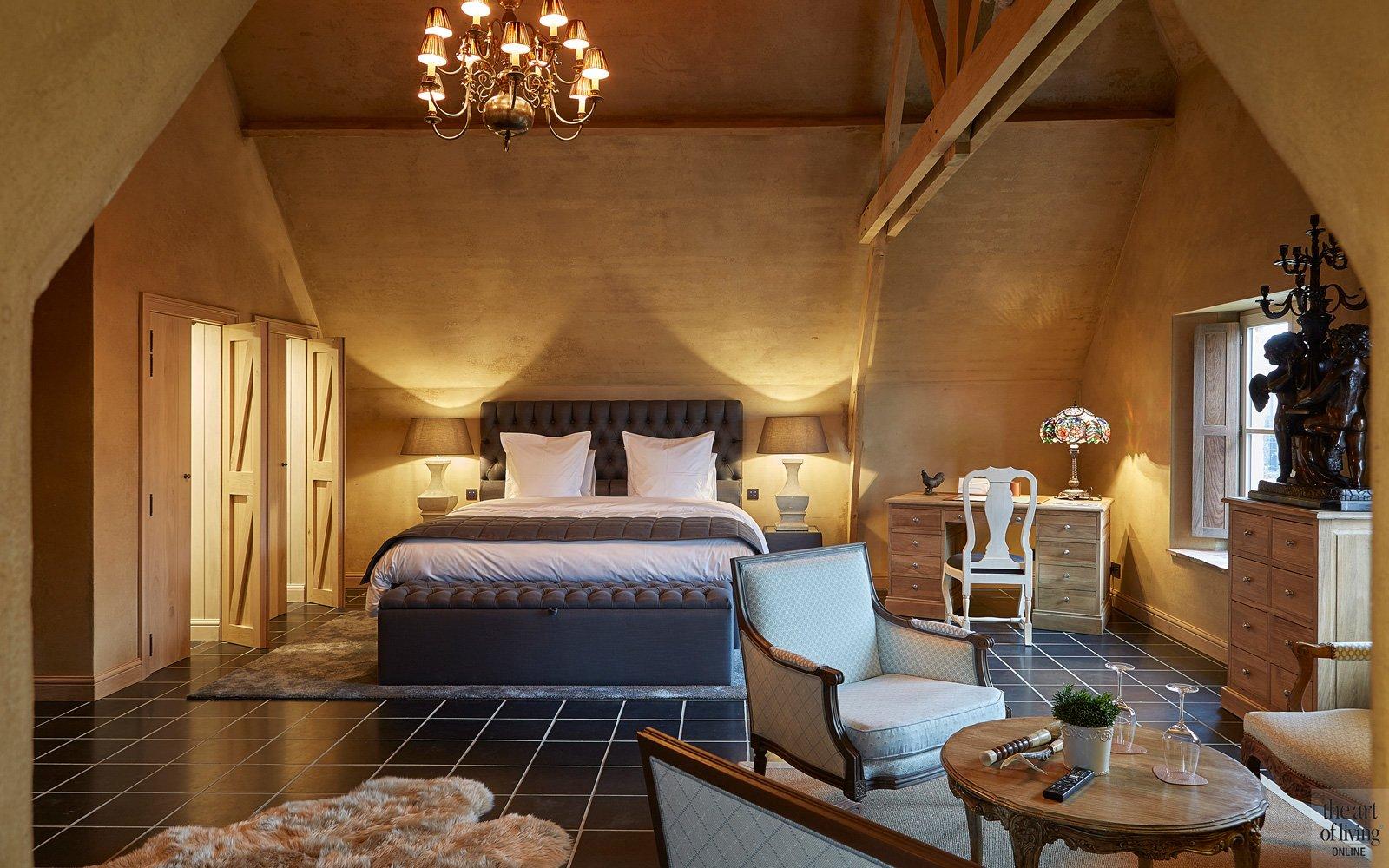 Slaapkamer Bed and Breakfast, bedlinnen van Slots Pure Textiles, bed, handgemaakt door Styldecor