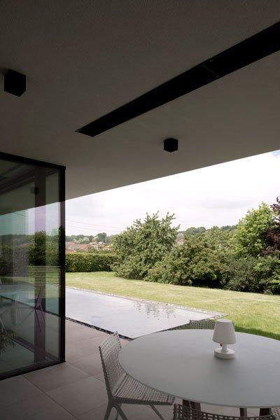 Terras, wateroppervlak, tuin, uitzicht, Zelfvoorzienend, BNE Architecten