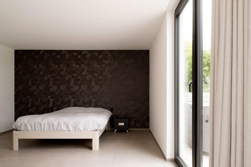 Bed, slaapkamer, groot raam, toegang tot terras, Zelfvoorzienend, BNE Architecten