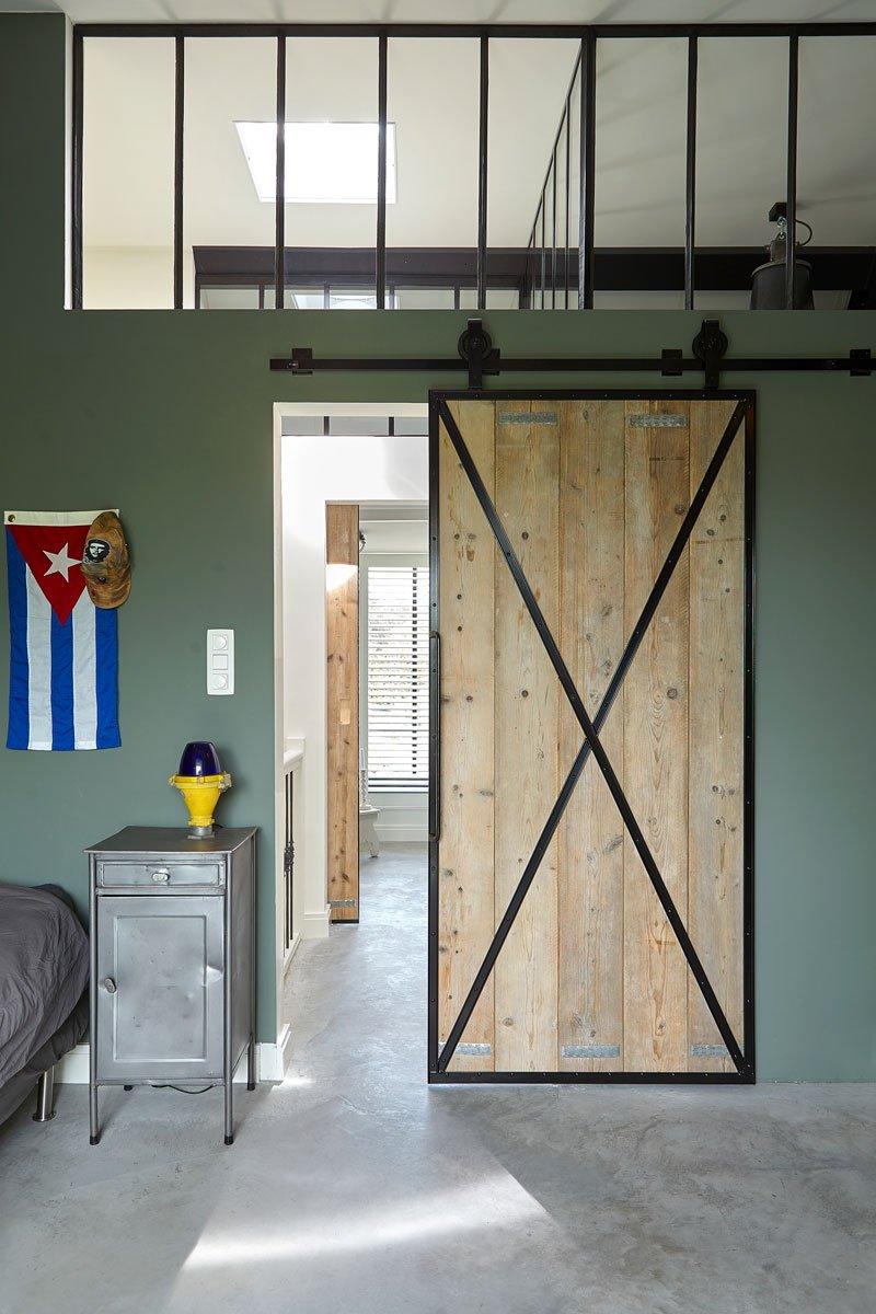 Staal en hout, deur, kinderkamer, Stalen Deuren Huys, Kijkwoning