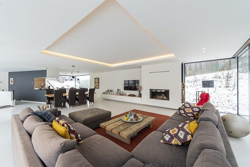 Hervé vanden Haute, villa, wit interieur, architect