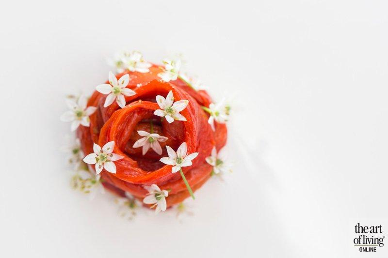 Eetbare bloemen, gerecht, Restaurant Hertog Jan