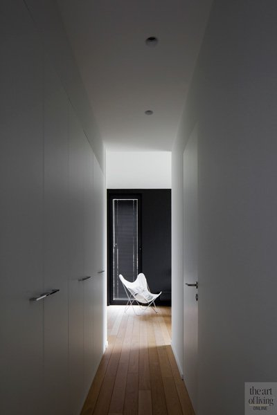 Minimalistisch, Hal, houten vloer, Hervé vanden Haute,