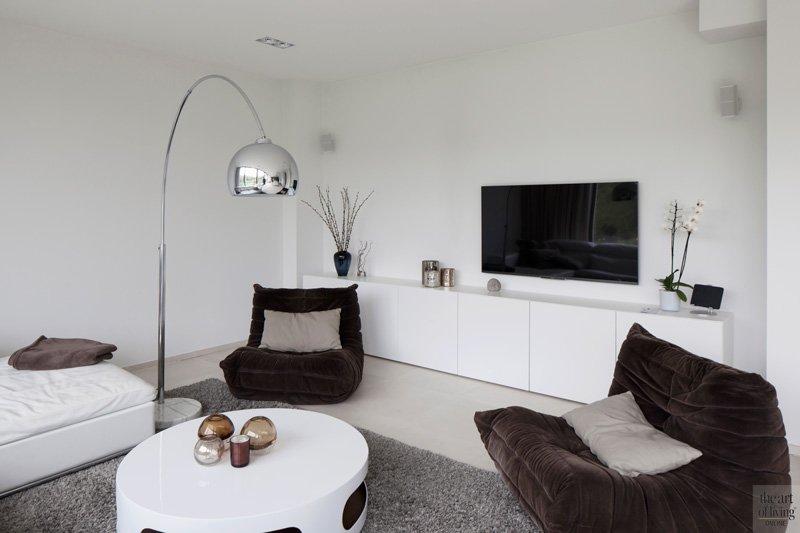 Modern, Minimalistisch, Zwart-Wit, Woonkamer, Interieur9, Herveé vanden Haute