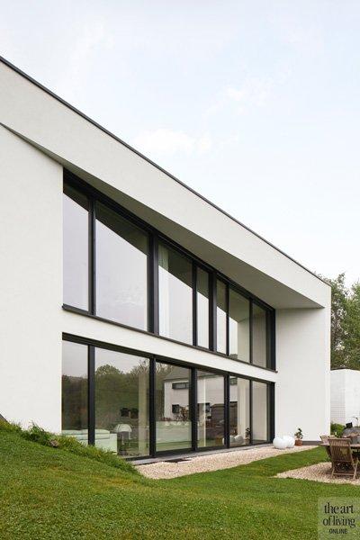 Modern, Minimalistisch,Compacte woning, Hervé vanden Haute voorgevel