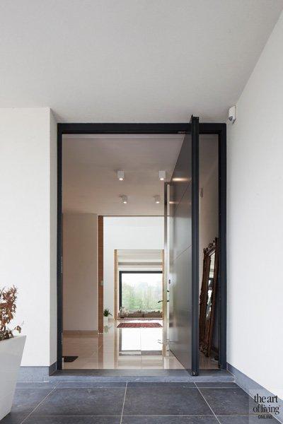 Glazen deur, hal,