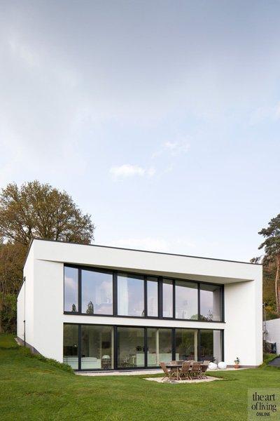 Modern, Minimalistisch, Compacte woning, Hervé vanden Haute voorgevel