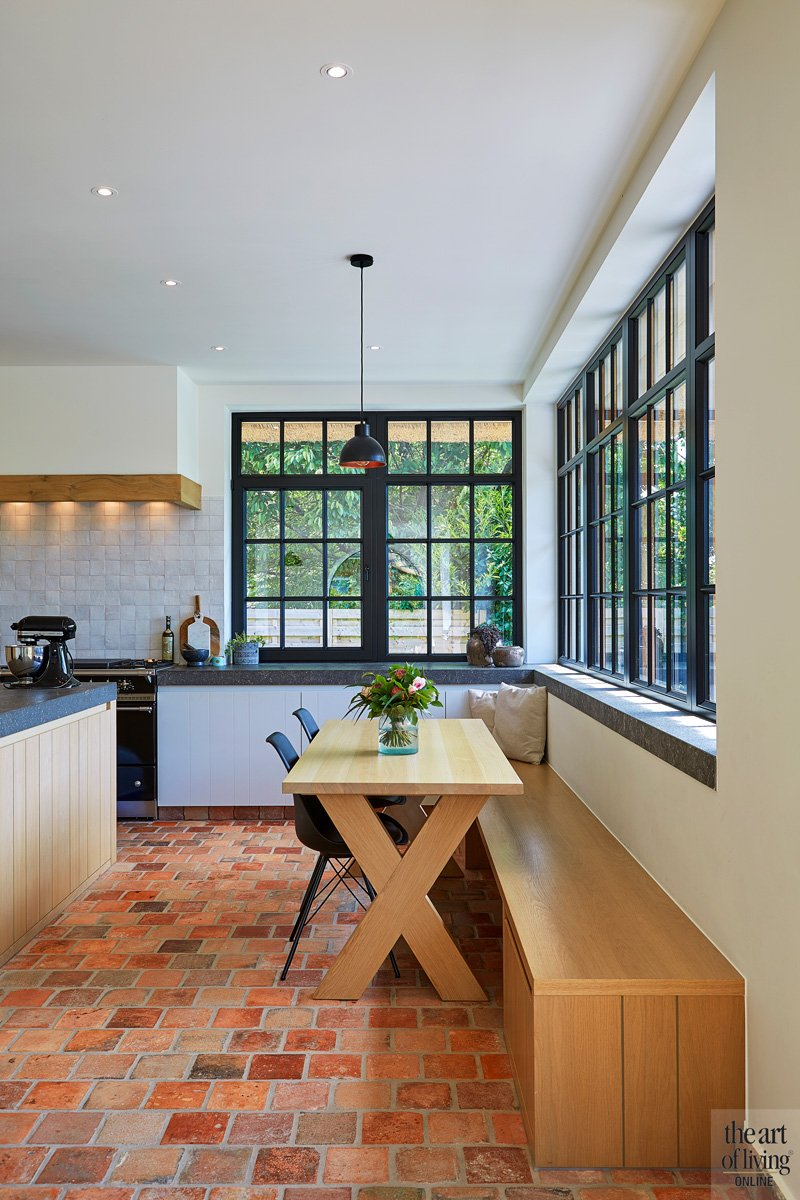 Maatwerk keuken, Frank Tack Keukens, grote ramen