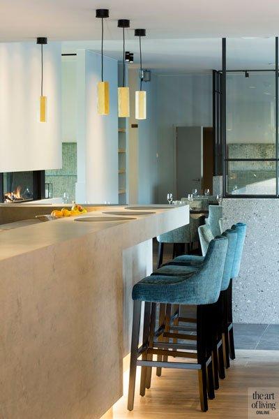 Gashaard van Heybricnk, eyecatcher, toog meubilair De Jaeger, natuursteen, Restaurant Chaflo & Co, Bouw-iD