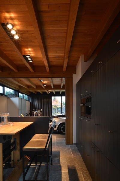 Keuken, Bouwcenter Nelemans, eettafel, gastenverblijf, modern, VVR Architecten