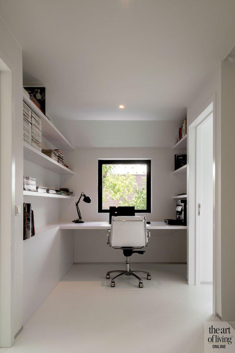 Kantoor, werkplek, gietvloer, Liquid Floors, ruime villa, HC Demyttenaere