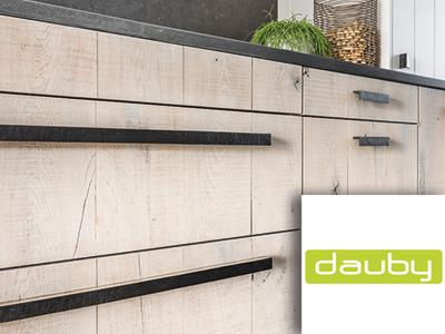 Dauby, deurbeslag, meubelbeslag, exclusief design