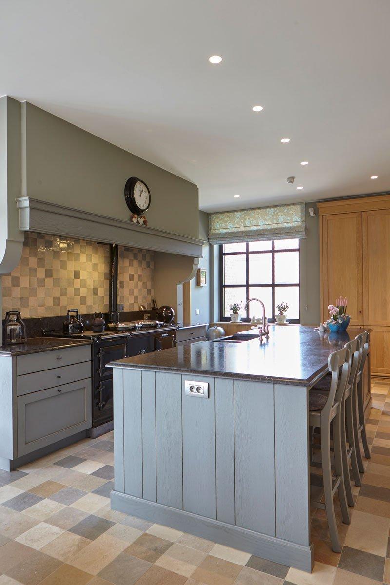Keuken, maatwerk, kookeiland, Frank Tack Interieurbouw, Engelse cottage, Bart François