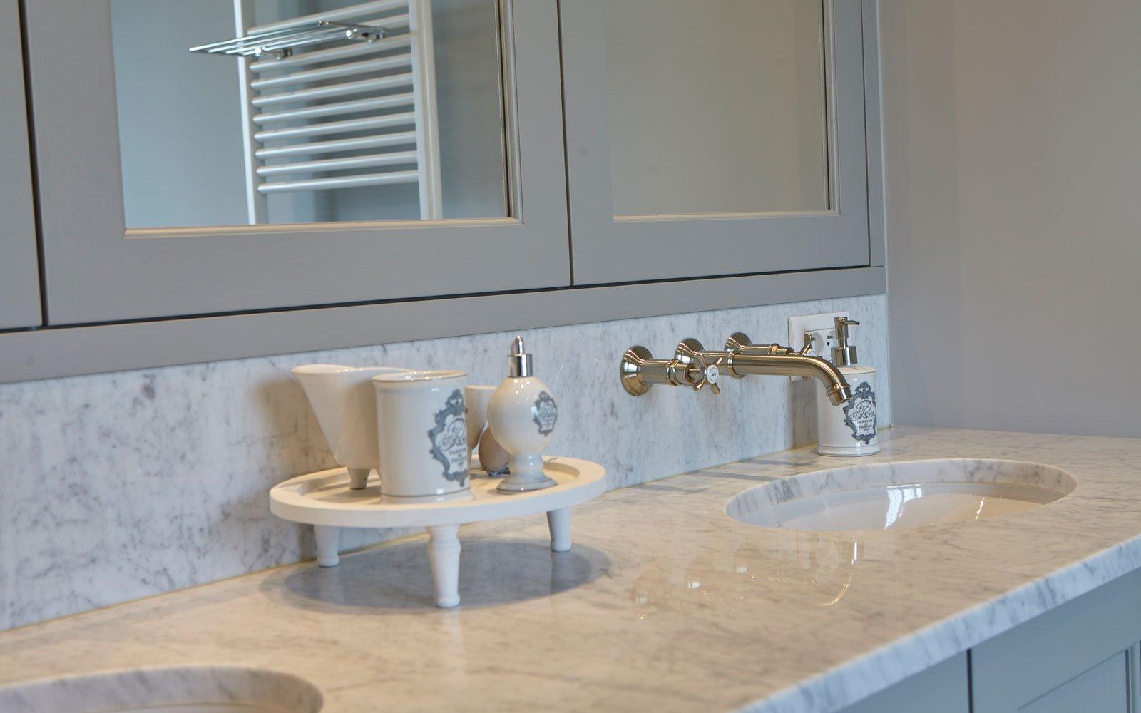 Badkamer, natuursteen, wastafel, sanitair, Tanghe Philip bvba, Engelse cottage, Bart François