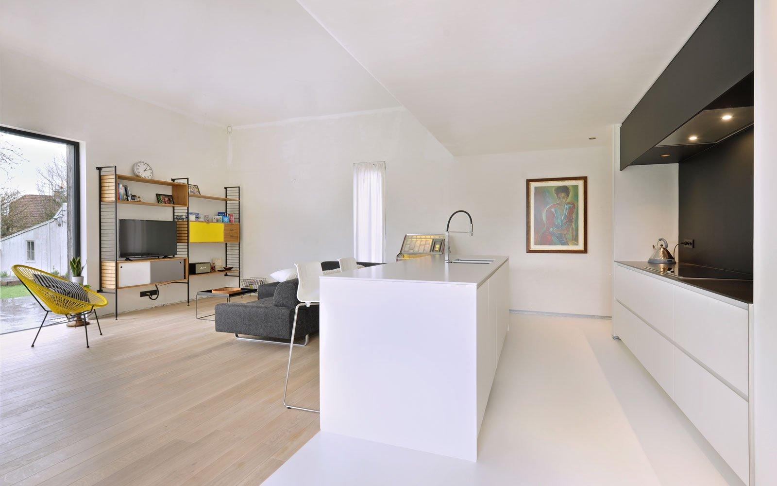 Woonkamer, keuken, open verbinding, maatwerk, Interioo, Michiel van Raemdonck