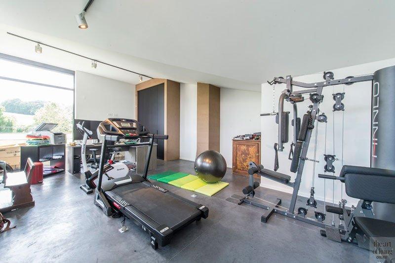 Privé, fitnessruimte, Industriële woning, BVV Architecten