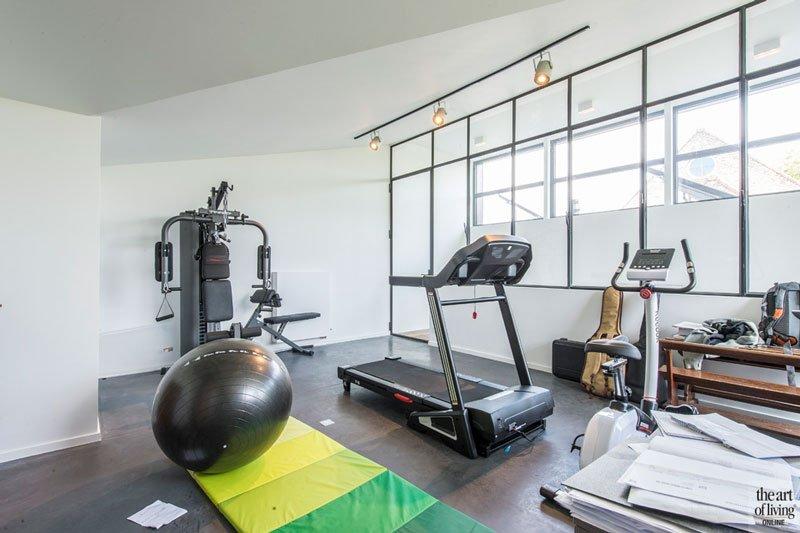 Privé fitnessruimte, Industriële woning, BVV Architecten