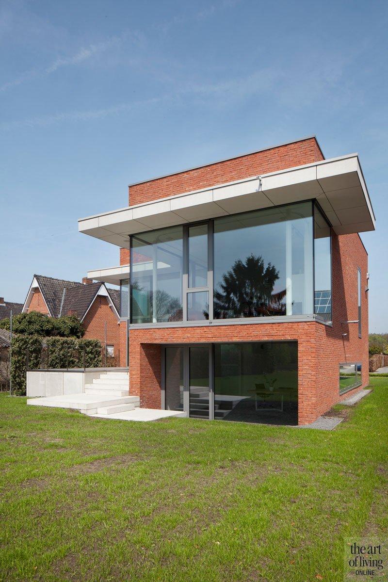 Villa in l vorm architecten the art of living be for Dat architecten