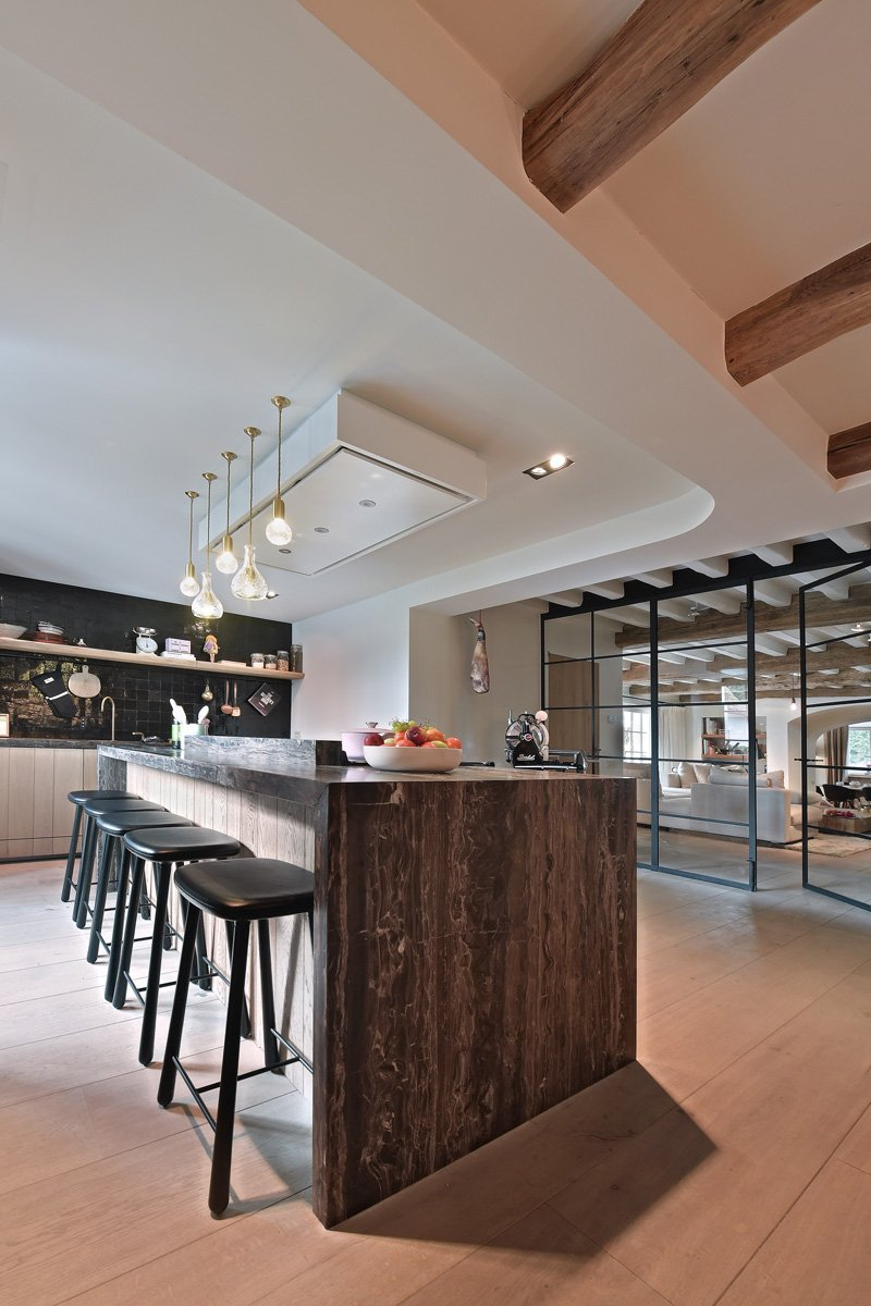 Keuken, kookeiland, Bulthaup, Ligna Recta, landelijk, strak, Jurgen Weyne