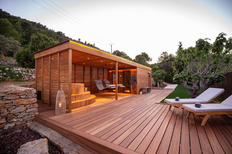 Alpha Industries, poolhouse, sauna, wellness