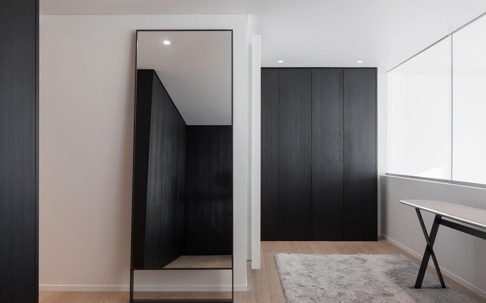 Slaapkamer, maatwerk kasten, master bedroom, bed, Knokse duplex, Stephan Gunst