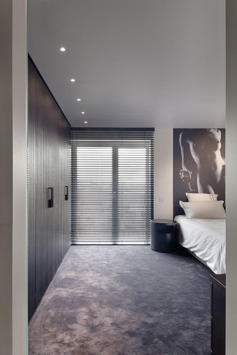 Slaapkamer, maatwerk kasten, hout, knokse duplex, Stephan Gunst