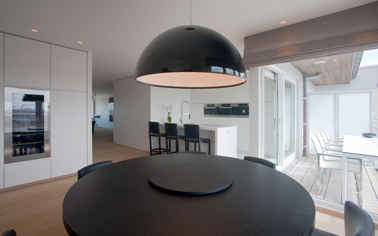 Appartement, woonkamer, keuken, parketvloer, De Voogt Parket, droomappartement, Stephan Gunst