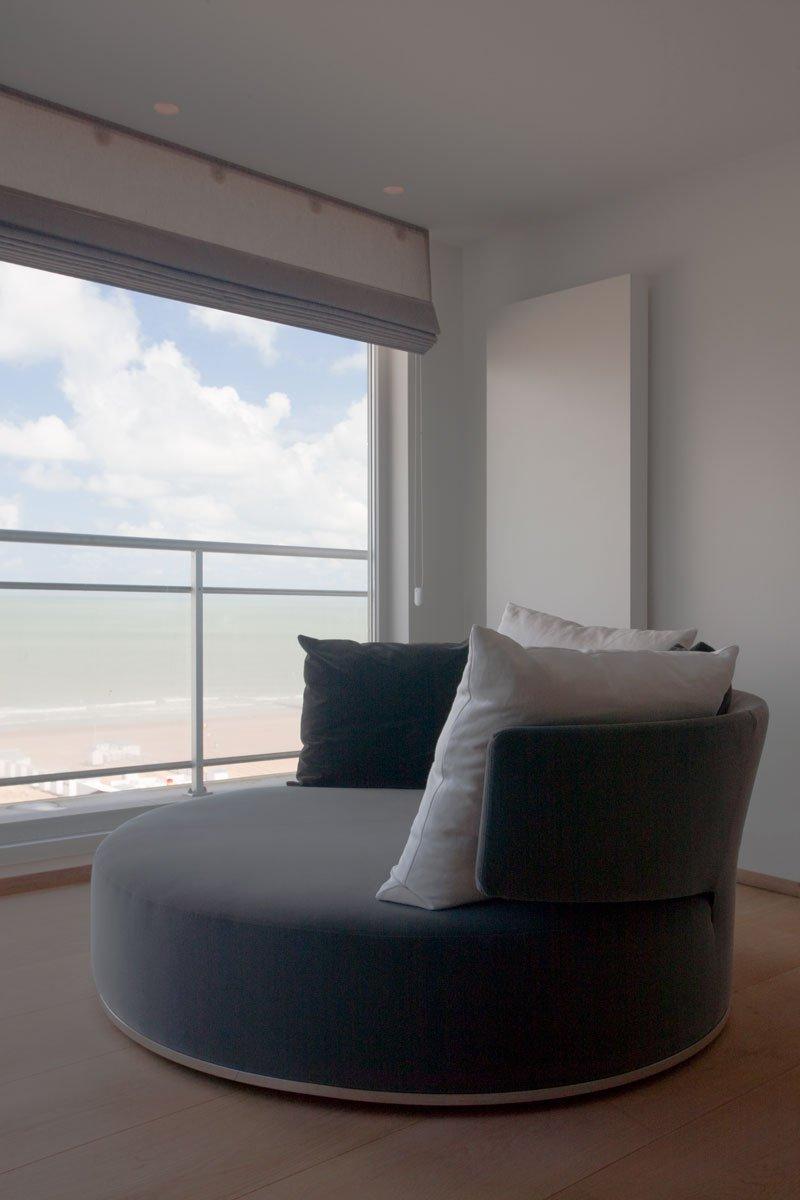 Comfortabel, lounge, uitzicht, genieten, Knokke, droomappartement, Stephan Gunst