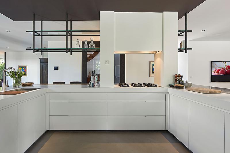strakke keuken, culimaat, witte keuken
