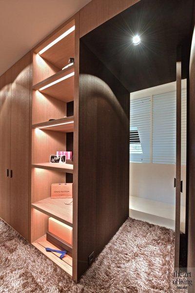 Slaapkamer, inloopkast, walk-in-closet, kledingkast, klassiek modern, Jurgen Weyne