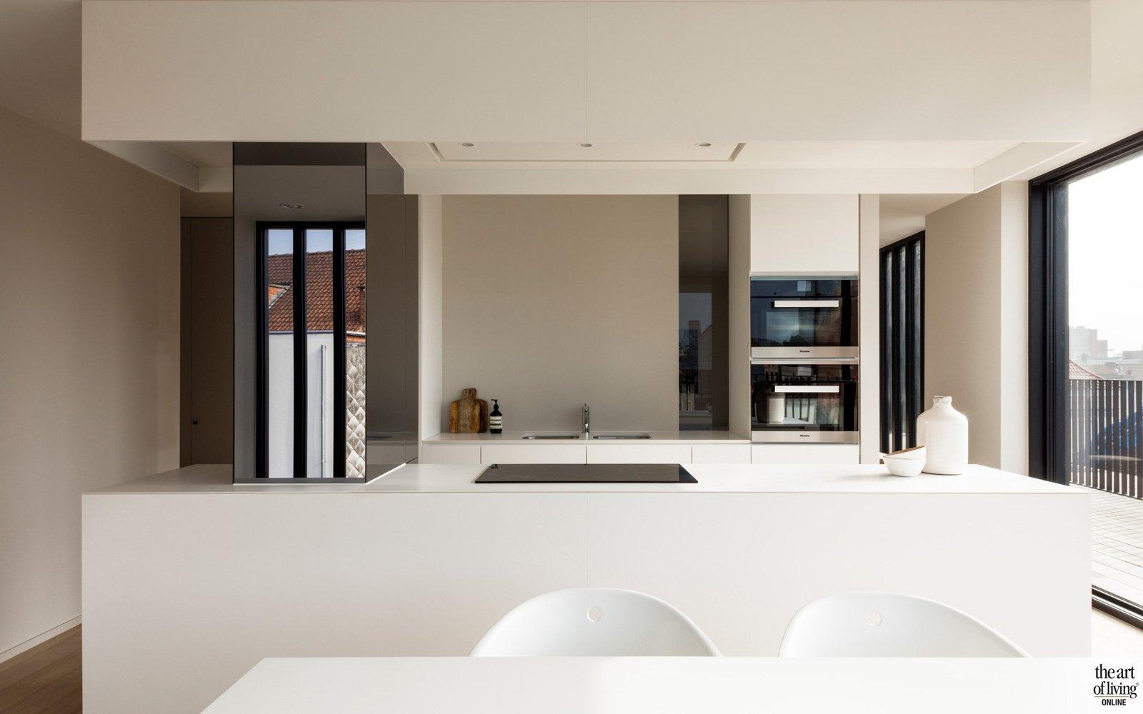 Moderne Keukens Gent : Penthouse gent juma architects the art of living be