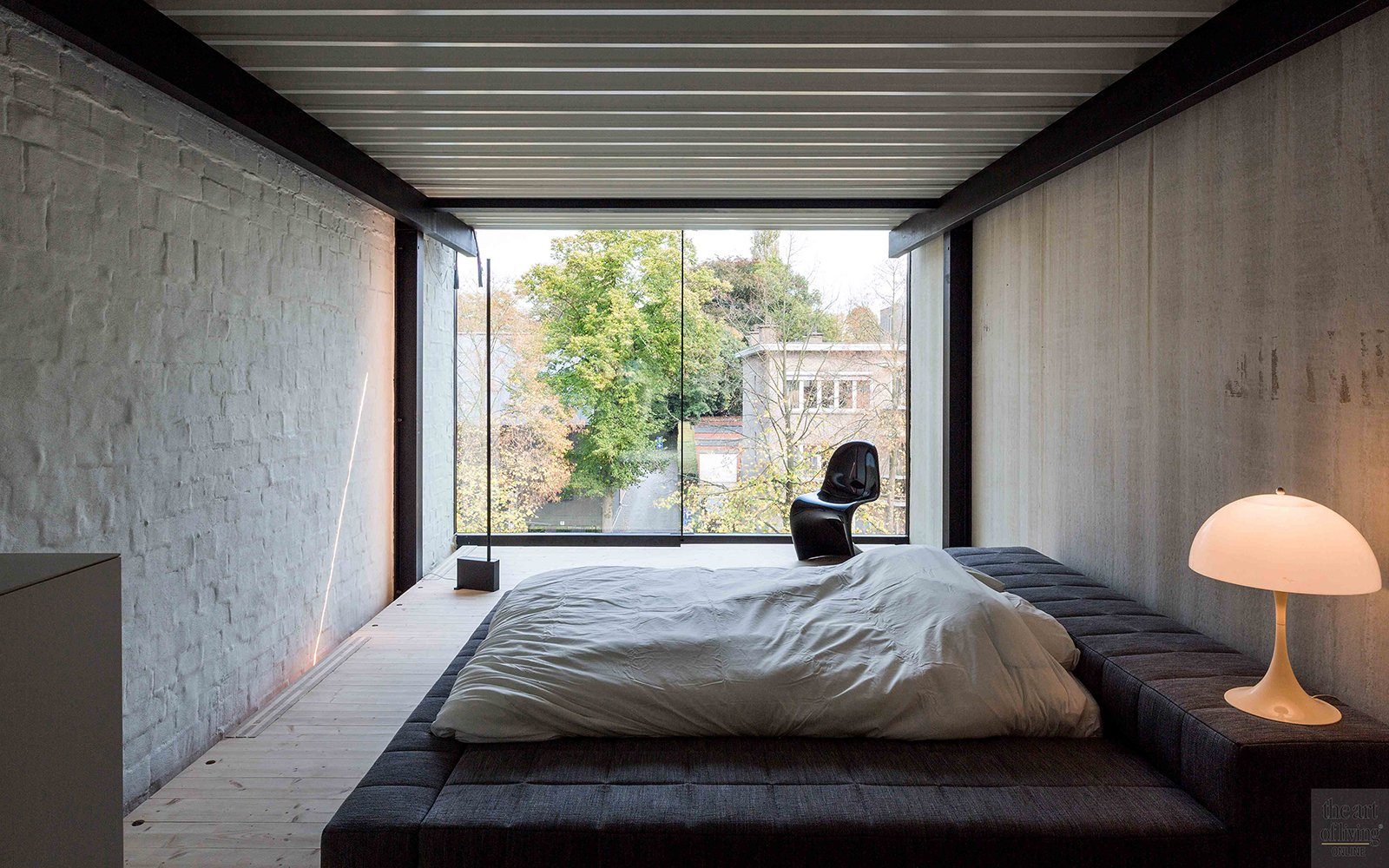 Master bedroom, bed, badkamer, ensuite, neutraal, open, Icoon architecten