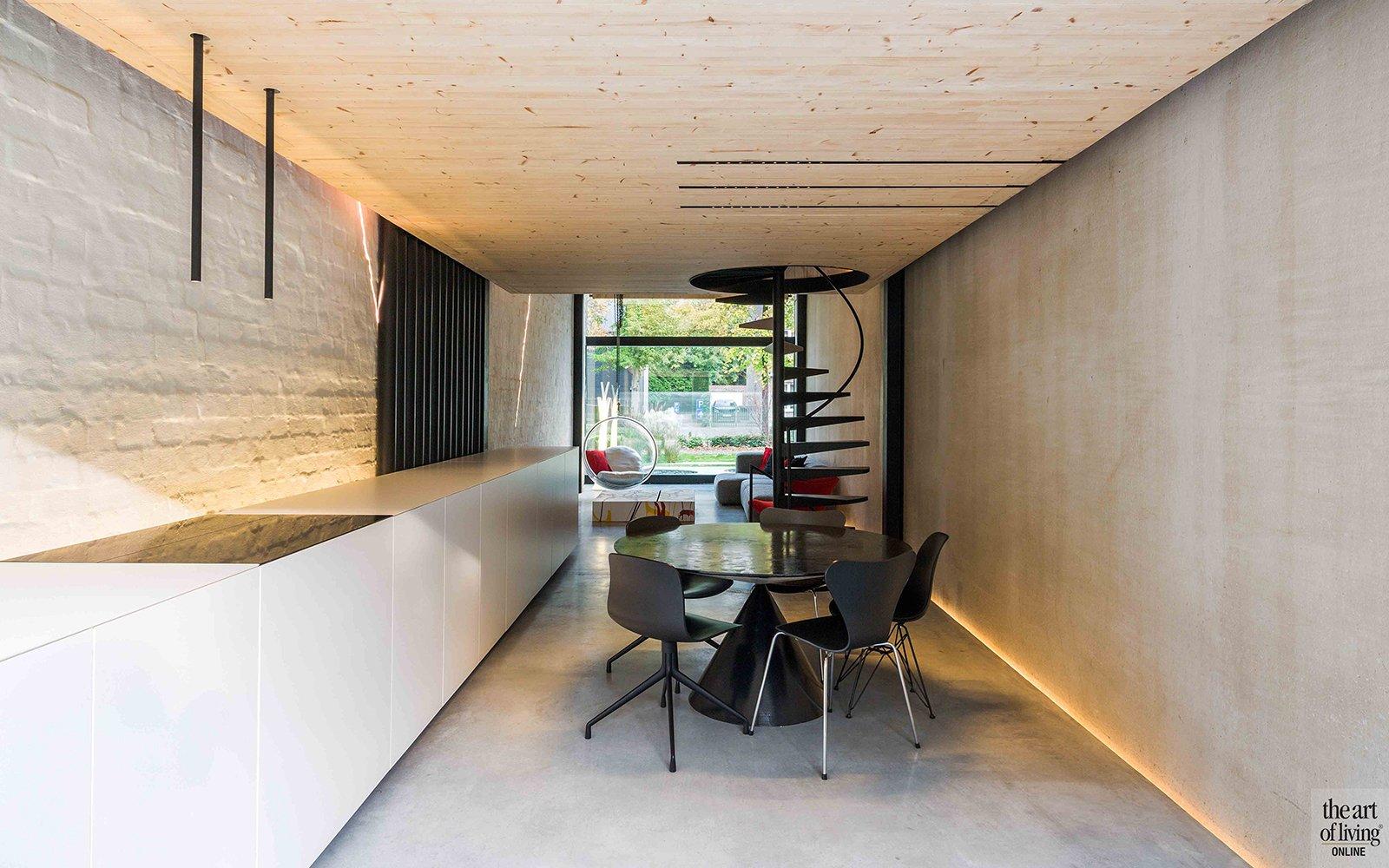 Icoon Architecten, keuken, eettafel, trap, strak, open ruimten, woonkamer
