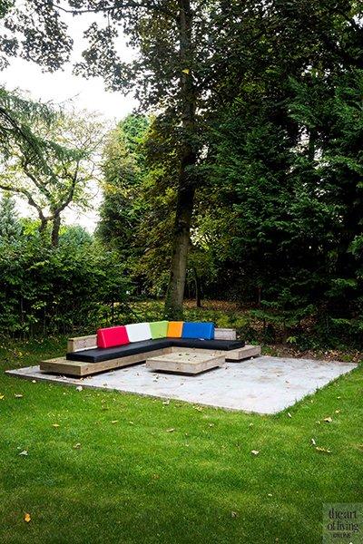 Icoon Architecten, terras, lounge, tuin, tuinmeubelen