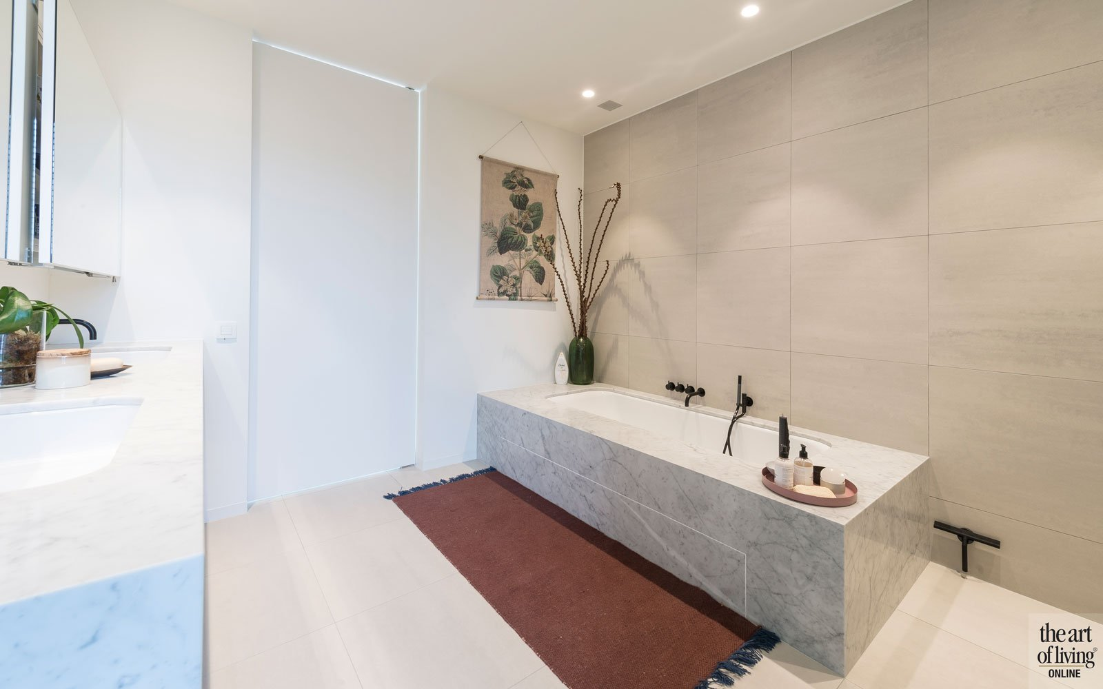 Badkamer, sanitair, natuursteen, tegels, Mosa, Aqualex, kraan, groepspraktijk, Jelle Vandecasteele
