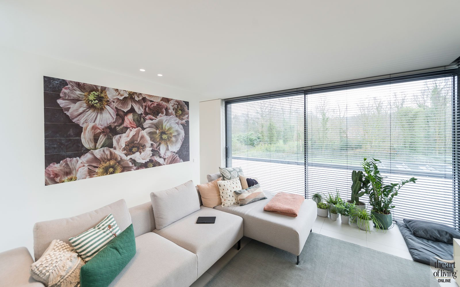 Appartement, woonkamer, living, lounge, grote ramen, groepspraktijk, Jelle Vandecasteele