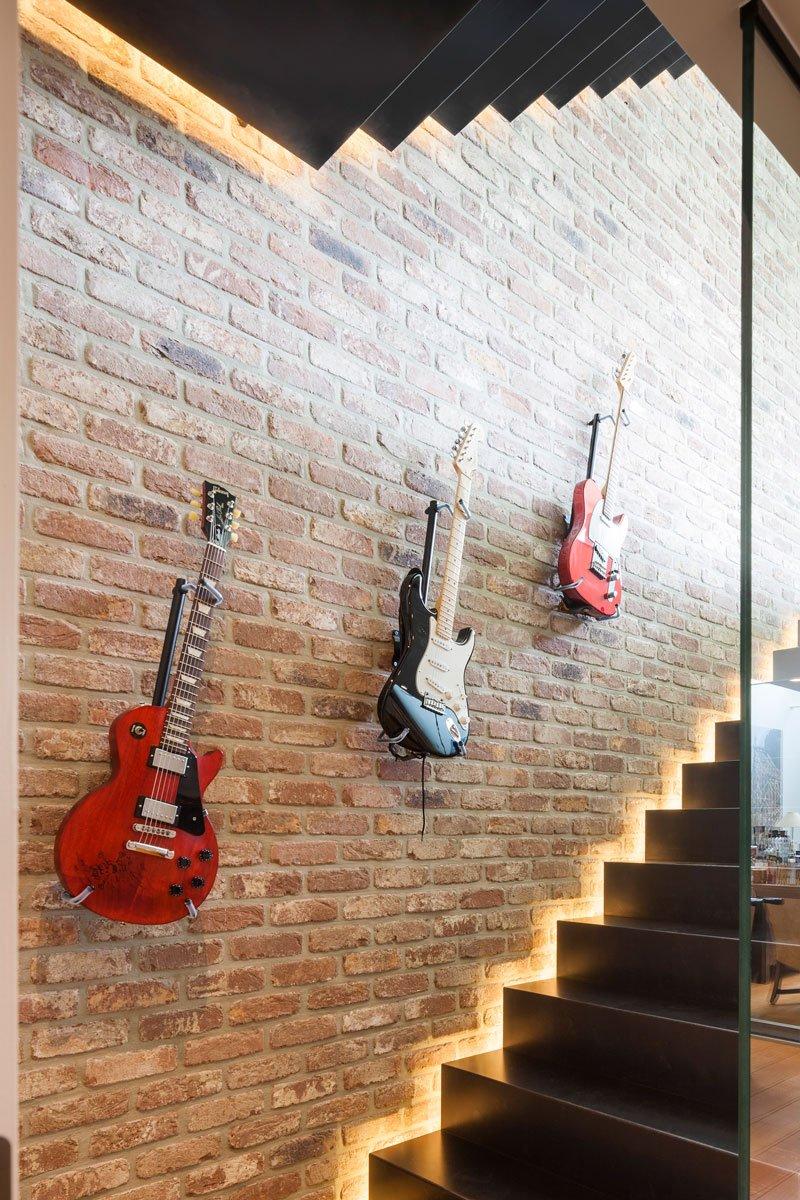 Trap, led verlichting, gitaren, Amerikaanse stijl, b+ villas