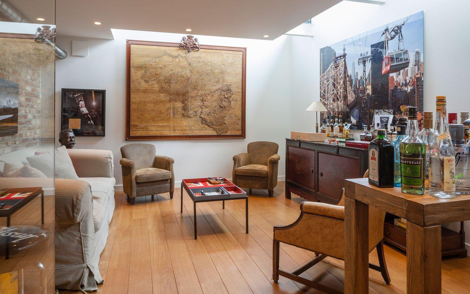 Kelder, houten vloer, Amerikaanse stijl, b+ villas