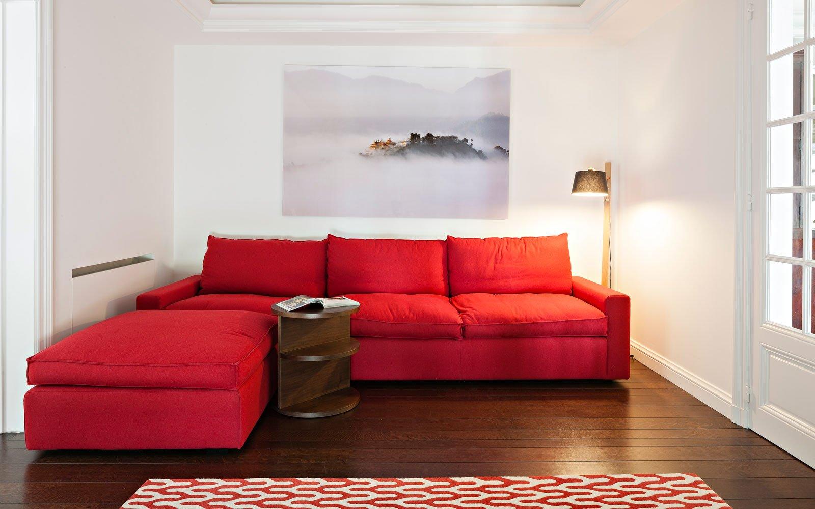 Woonkamer, living, Amerikaanse stijl, b+ villas
