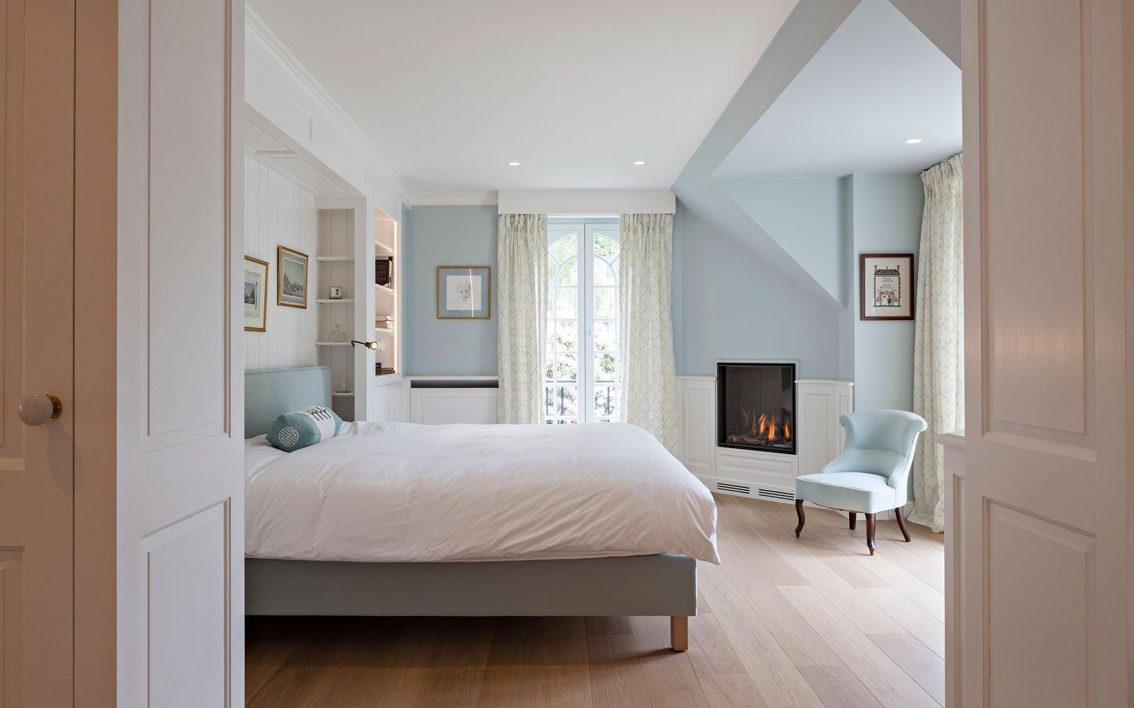 Slaapkamer, master bedroom, klassiek, Amerikaanse stijl, b+ villas