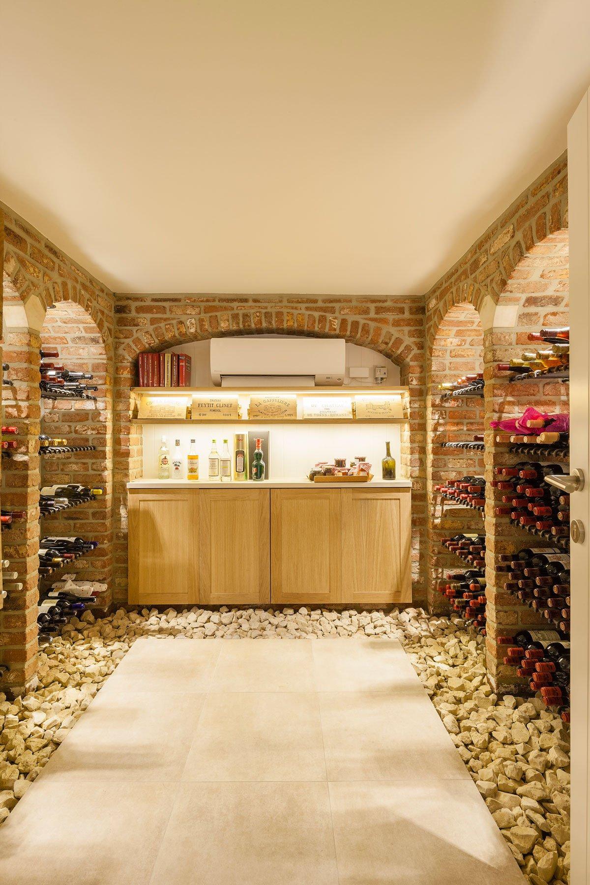 Kelder, wijnkelder, klassiek, Amerikaanse stijl, b+ villas