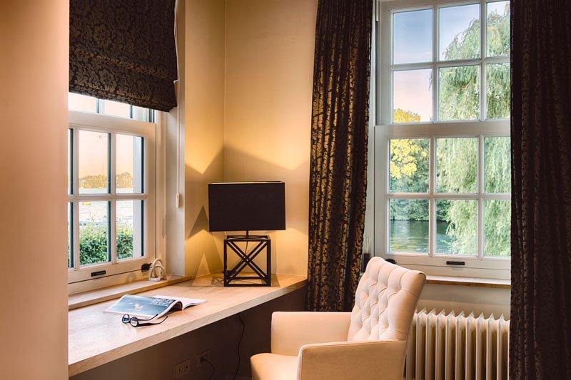 Bureau, slaapkamer, comfortabele stoel, Amerikaanse stijl