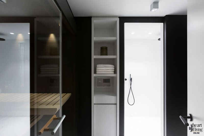 Wellness, sauna, regendouche, spa, ontspannen, modern appartement, DesignbyAnke