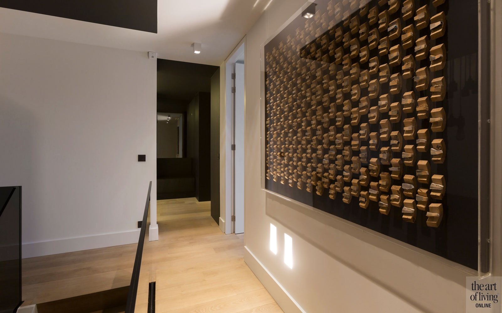Bovenverdieping, trap, houten vloer, parket, modern appartement, DEsignbyAnke