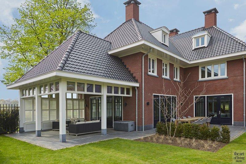 Veranda, tuin, afdak, overkapping, tuinmeubelen, P&P Groenprojecten, jaren 30 villa, Marco Daverveld