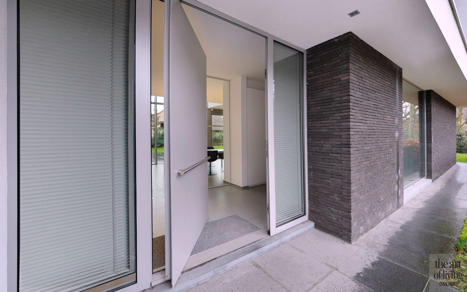 Voordeur, entree, symmetrische woning, Schellen Architecten