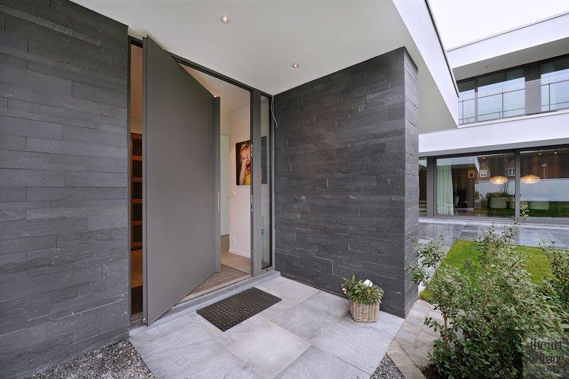 Entree, voordeur, eigentijdse villa, Schellen Architecten