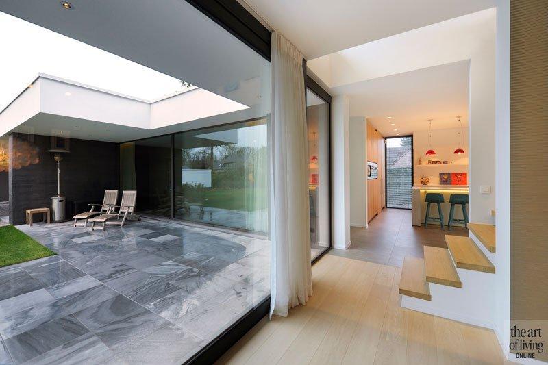 Grote ramen, schrijnwerk, BOVEN YVO, houten vloer, Grobo Parket, ruimtelijk, eigentijdse villa, Schellen Architecten